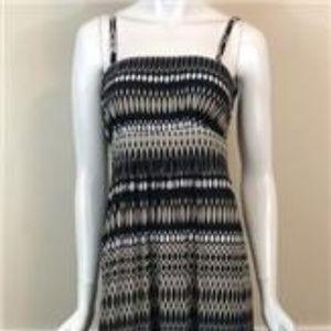 Soma Maxi Dress Bandeau Style Black/Taupe/White M
